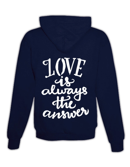 """Hoodie """"Love is the answer"""""""