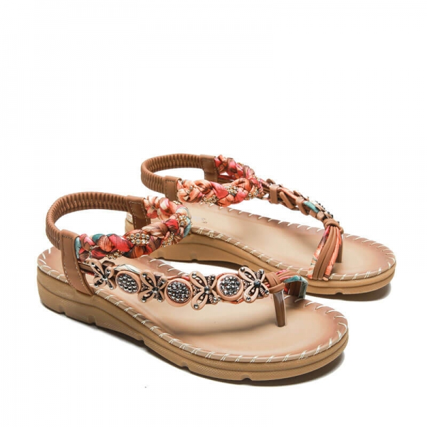 Sommersandale Retro Brown