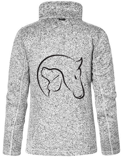 "Strickfleece Jacke ""Horse & Dog"""