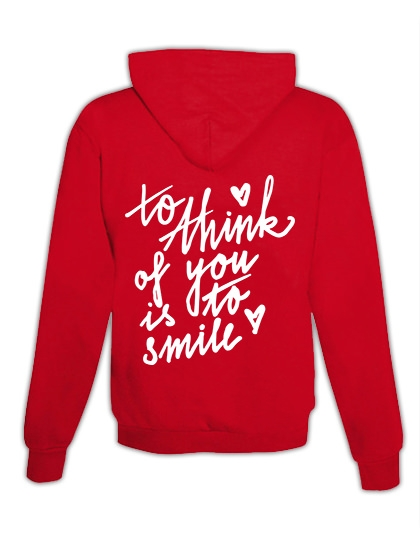 "Hoodie ""To think of you"""
