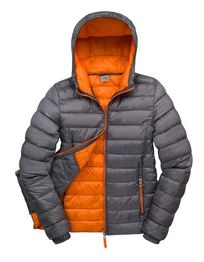 Damen Winterjacke Grau / Orange